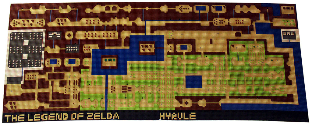 Lego video game rescue legend of zelda overworld map recreated in lego gumiabroncs Choice Image