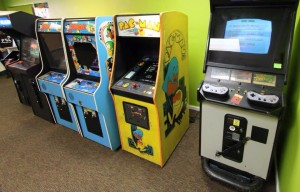 Popeye Pacman and Nintendo Arcade cabinets