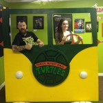 Dustin and Deanna in the Ninja Turtle Van