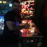 Dustin and his first pinball machine Gorgar